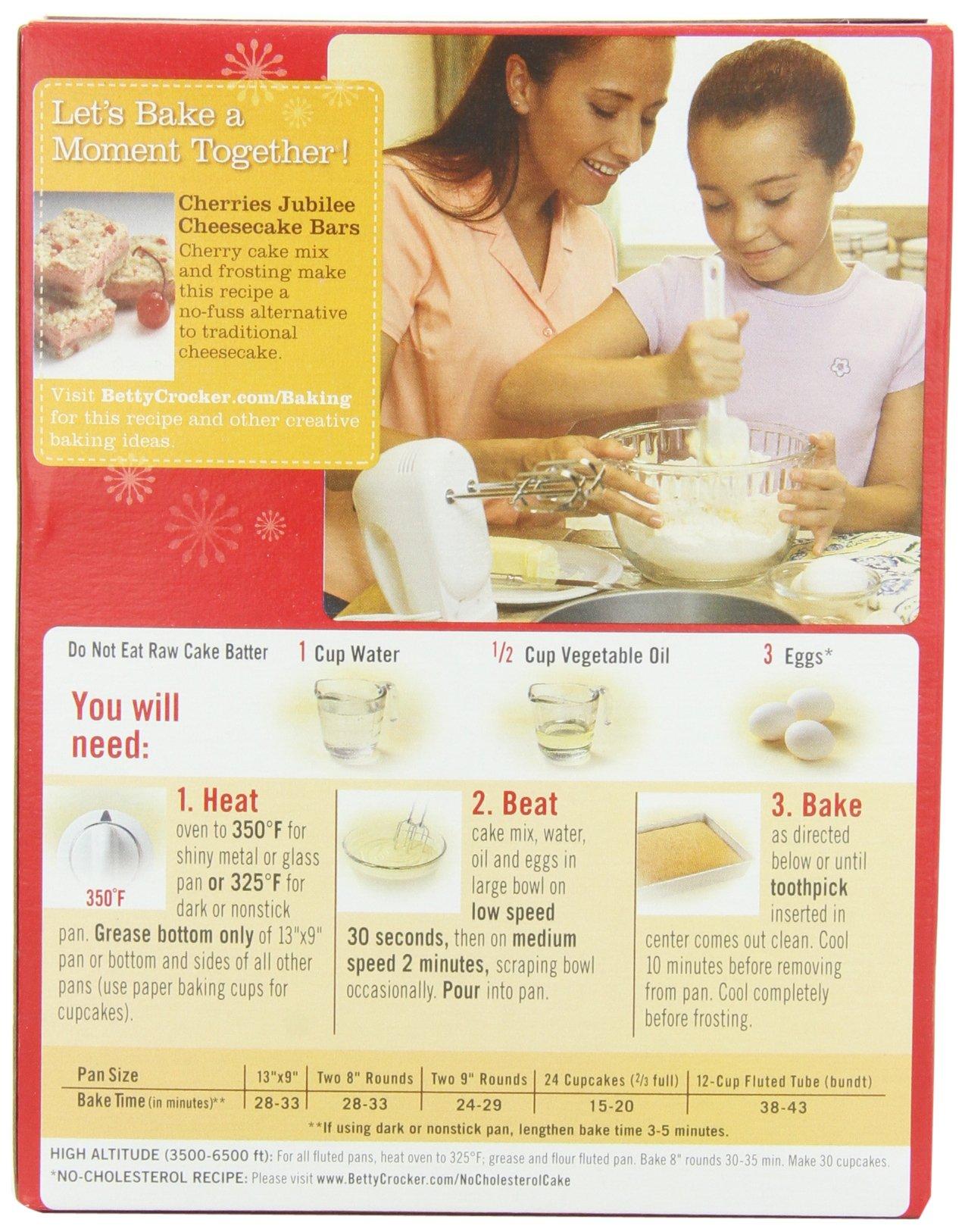 Betty Crocker Recipes Yellow Cake Mix