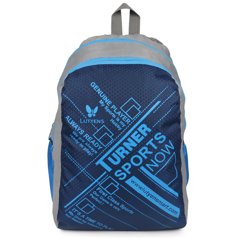 School bags online cash on delivery - Lutyens Polyester Blue Grey School Bag 17 Litre Lutyens_272 Amazon In Bags Wallets Luggage