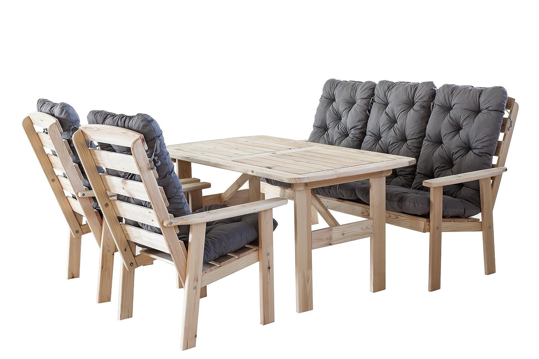 9tlg set hanko maxi natur mit kissen loungegruppe essgruppe sitzgruppe gartenm bel. Black Bedroom Furniture Sets. Home Design Ideas