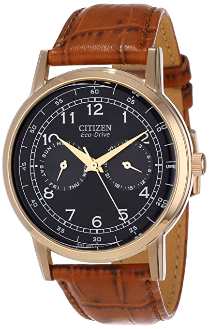 Citizen Men's AO9003-08E Eco-Drive Rose Gold Tone Day-Date Watch-奢品汇 | 海淘手表 | 腕表资讯
