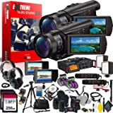 Sony FDR-AX100 4K Ultra HD Camcorder International Model Extreme Vlogging Studio 2.0 - Multi-Camera Setup (Color: Extreme Kit v2.0, Tamaño: 4K)