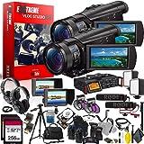 Sony FDR-AX100 4K Ultra HD Camcorder International Model Extreme Vlogging Studio 2.0 - Multi-Camera Setup (Color: Extreme Kit v2.0, Tamaño: 4K)