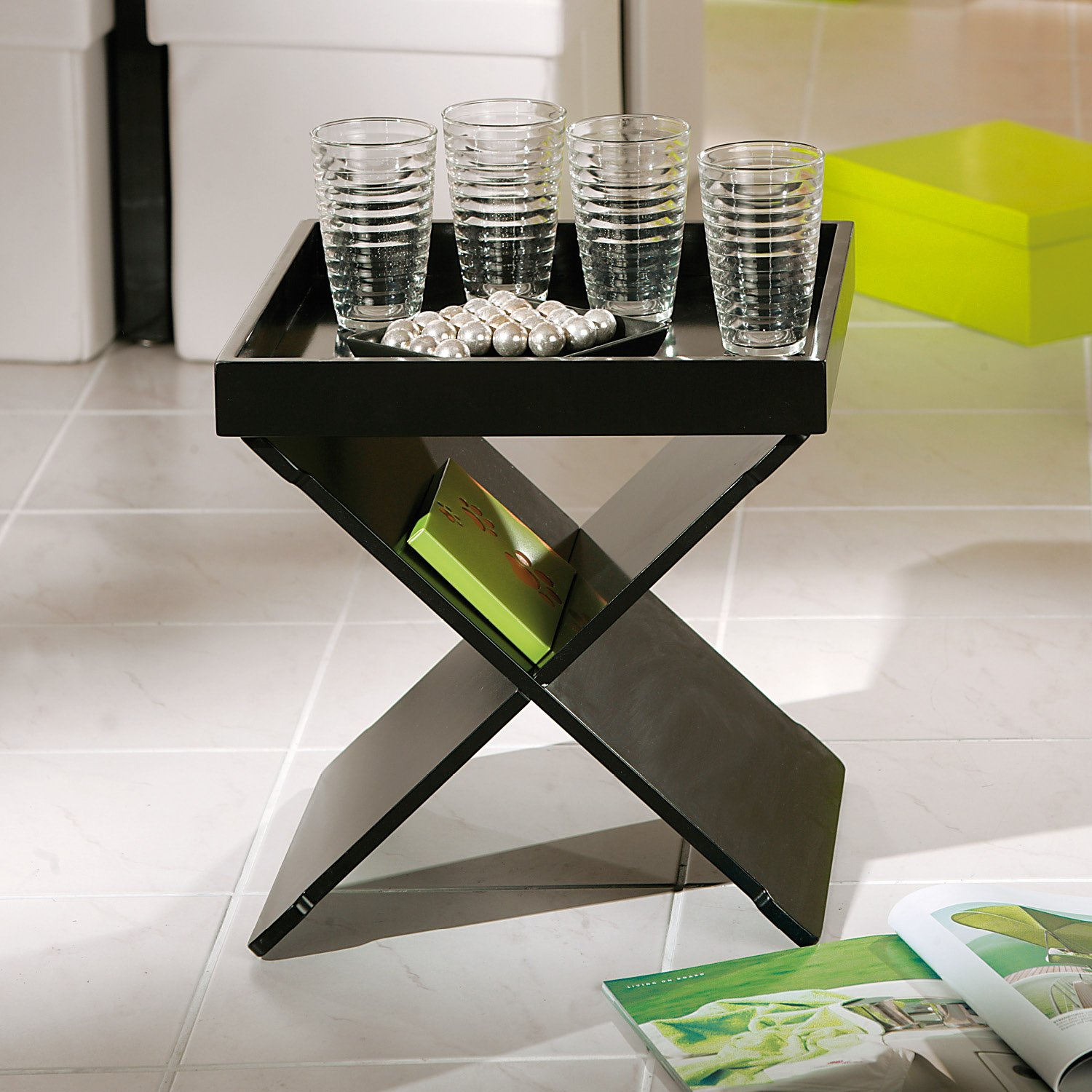 This black coffee table was one of our favourite choices.