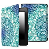 Fintie Case for Kindle Paperwhite - The Thinnest and Lightest PU Leather Cover with Auto Sleep/Wake for All-New Amazon Kindle Paperwhite (Fits All 2012, 2013, 2015 and 2016 Versions), Emerald Illusion