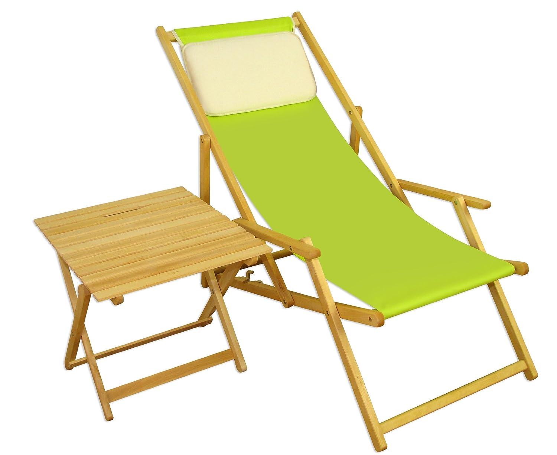 Sonnenliege Gartenliege Deckchair Saunaliege + Tisch Beige günstig bestellen