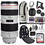 Canon EF 70-200mm f/2.8L USM Lens with Professional Bundle Package Deal Kit for EOS 7D Mark II, 6D Mark II, 5D Mark IV, 5D S R, 5D S, 5D Mark III, 80D, 70D, 77D, T5, T6, T6s, T7i, SL2