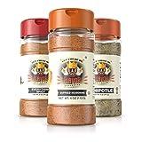 Flavor God #1 Best-Selling Seasonings Ring of Fire BBQ Combo Edition, Gluten Free, Low Sodium, Paleo, Vegan, No MSG 5oz. (3 Bottles) (Tamaño: 3 BOTTLES)