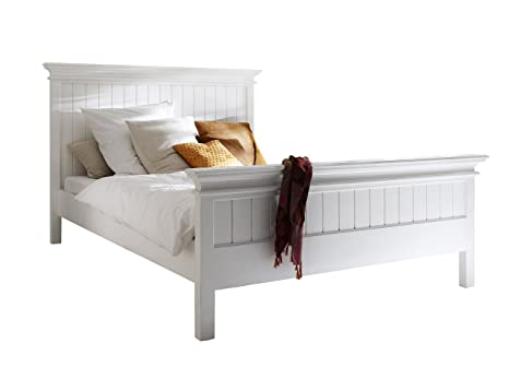 Nova Solo Bed, Mahogany, White, King