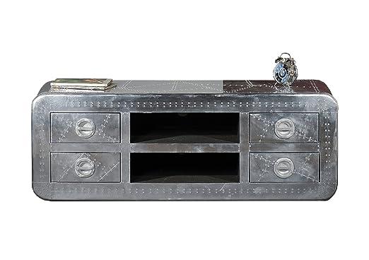 Sit-Möbel 1721-21 bajo las fuerzas aéreas, 2 bolsillos abiertos, 4 cajones, de metal con tornillos ornamentales provista de, aproximadamente 145 x 45 x 50 cm