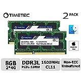 Timetec Hynix IC Apple 8GB Kit (2x4GB) DDR3L 1600MHz PC3L-12800 SODIMM Memory Upgrade For MacBook Pro 13-inch/15-inch Mid 2012, iMac 21.5-inch Late 2012/Early 2013 (Low Density 8GB Kit (2x4GB)) (Tamaño: Low Density 8GB Kit (2x4GB))