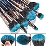 TCPF Basic Makeup Brushes set, Gradient Blue Makeup Brushes Kit, Cosmetic Brush set with Face Eyeshadow Foundation Blush Lip Makeup Brushes Powder Cosmetics Blending Makeup Brush Set,7PCS (Color: Gradient Blue)