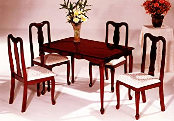 """The Room Style 5-piece Queen Ann Cherry Finish Solid Wood Dining Set (30""""x48"""")"""