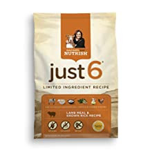 Rachael Ray Nutrish Just 6 Natural Dry Dog Food, Lamb Meal & Brown Rice Recipe