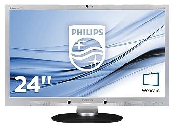 """Philips 241P4QPYKES/00 Ecran PC LCD 24"""" (60 cm) 1920 x 1080 DisplayPort / DVI-D  / VGA webcam intégrée + hauts parleurs Noir"""
