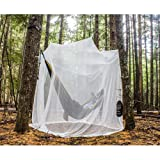 MEKKAPRO Ultra Large Mosquito Net and Insect Repellent by Large Two Openings Netting Curtains | Prevent Malaria Zika West Nile Viruses | Camping, Bedding, Patio | Carrying Pouch and Hanging Kit (Color: White, Tamaño: King)