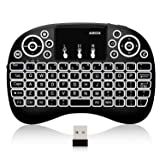 ABOX i10 Mini Wireless Keyboard, 2.4GHz Multi-Media Portable Handheld Keyboard with Touchpad Mouse for Android tv Box, Projector, Xbox 360, PC, PAD, PS3 (Color: ABOX Keyboard, Tamaño: ABOX Keyboard)