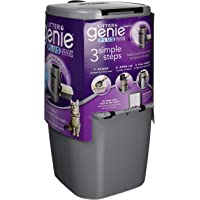 Litter Genie Plus Cat Litter Disposal System with Odor Free Pail System (Silver)