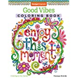 Good Vibes Coloring Book (Coloring is Fun) (Design Originals): 30 Beginner-Friendly Relaxing & Creative Art Activities on High-Quality Extra-Thick Perforated Paper that Resists Bleed Through (Color: Good Vibes Coloring Book)