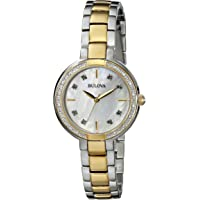 Bulova 98R172 Diamond Mother of Pearl Dial Two-Tone Ladies Watch