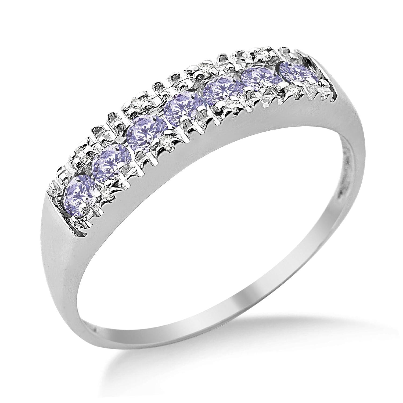Miore Damen-Ring Memoire 375 Weißgold Tansanit und Brillanten MT020TR bestellen