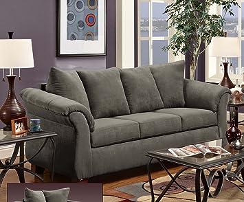 Chelsea Home Furniture Kiersten Sofa, Flatsuede Graphite