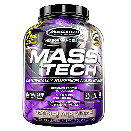 Mass-Tech Mass Gainer Chocolate 7 lbs/Strawberry 7 lb (1 of each) by MuscleTech