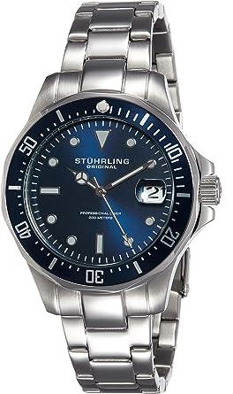 buy stuhrling original aquadiver analog blue dial men s watch stuhrling original aquadiver analog blue dial men s watch 664 02