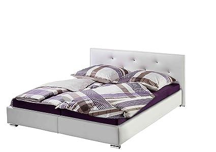 Maintal Betten 214918-4691 Polsterbett Kristall 100 x 200 cm, Kunstleder