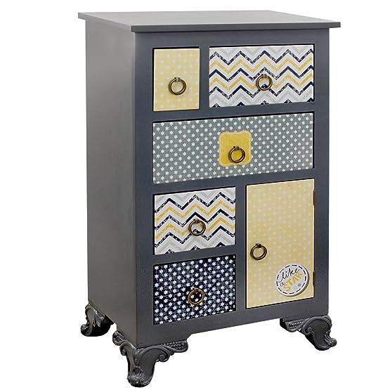 Signes Grimalt-Mobile 47937 6 cassetti, legno e resina, 52 x 34 x 86 cm