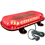 LAMPHUS SolarBlast 34W LED Medical First Responder EMS EMT Vehicle Warning Strobe Mini Light Bars AVAILABLE - RED (Color: Red / Red, Tamaño: 18