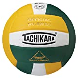 Tachikara SV5WSC Sensi-Tec Composite High Performance Volleyball (Dark Green/White/Gold)