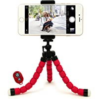Bastex Universal Compact Flexible Octopus Style Tripod Stand Holder (Red)