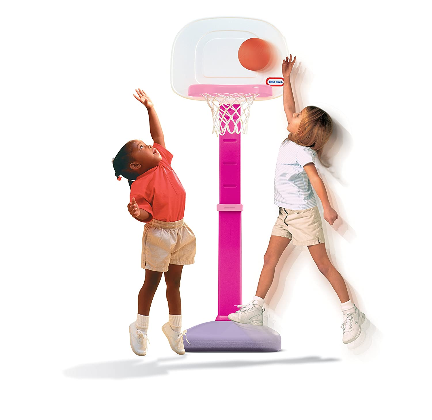 An Image of Little Tikes TotSports Easy Score Basketball Set, Pink