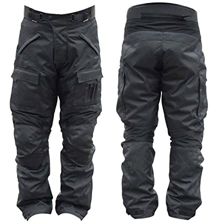 Pantalon Moto Pour Homme Imperméable Noir avec Protection Certifié CE