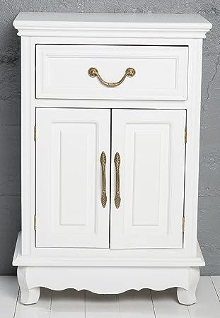 50 x 30 x 75 cm cómoda de madera armario de madera de haya colour blanco envejecido shabby chic