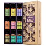Natrogix Bliss Essential Oils - Top 9 Therapeutic Grade 100% Pure Essential Oil Set (Tea Tree, Lavender, Eucalyptus, Frankincense, Lemongrass, Lemon, Rosemary, Orange, Peppermint) w/Free E-Book