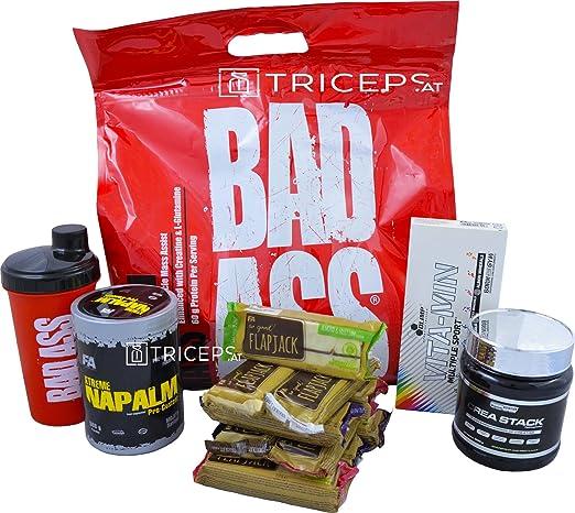 Masseaufbau - Muskelaufbau Set von Namenhaften Herstellern - Sparset jetzt zum Aktionspreis! Gainer, Booster, Vitamine, Kreatin, Riegel, Shaker