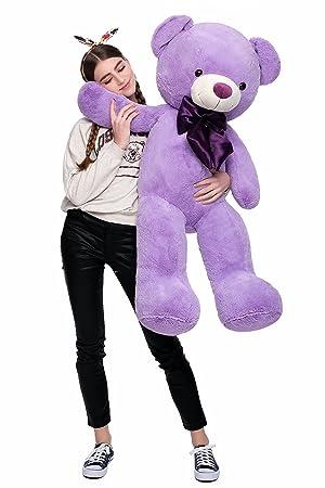 MorisMos Giant Cute Soft Toys Teddy Bear for Girlfriend Kids Teddy Bear (Purple, 47 Inch) (Color: Purple, Tamaño: 47 Inch)