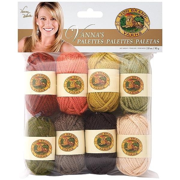 Lion Brand Yarn 865-203 Vanna's Palettes Yarn, Earthy