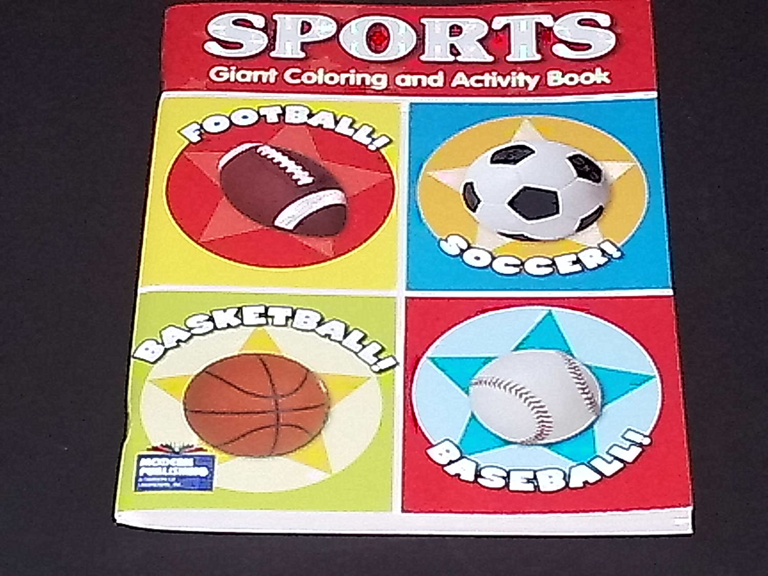 Sports Theme Giant Coloring & Activity Book ~ Baseball, Basketball, Football, & Soccer! by Full 90