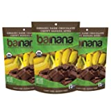 Barnana Organic Chewy Banana Bites, Chocolate, 3.5 Ounce, 3 Count