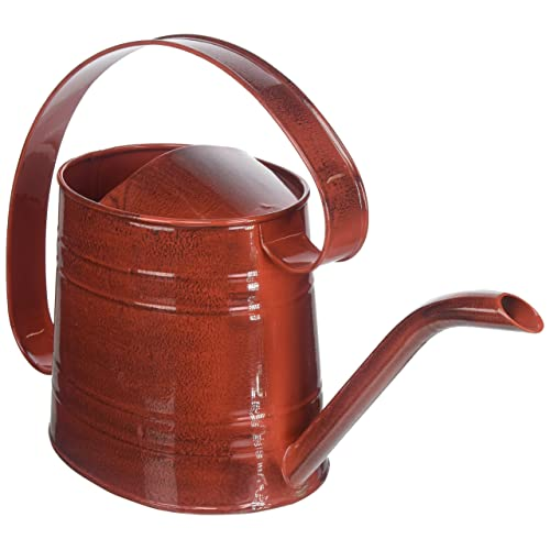 ROBERT ALLEN MPT01507 Danbury Metal Watering Can, Cayenne Red