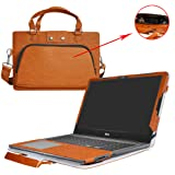 Inspiron 15 i5567 i5565 Case,2 in 1 Accurately Designed Protective PU Leather Cover + Portable Carrying Bag for 15.6