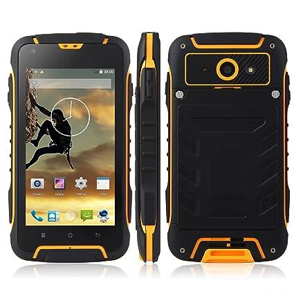 Bestore® - F6 IP68 Tri-Etanche à la poussière antichoc MTK6582 1.3GHz Quad Core 4,5 pouces IPS 540 x 960 pixel écran Android 4.4 1G RAM + 8G ROM 8MP caméra Dual SIM 3G WCDMA déverrouillé Smartphone (Jaune)