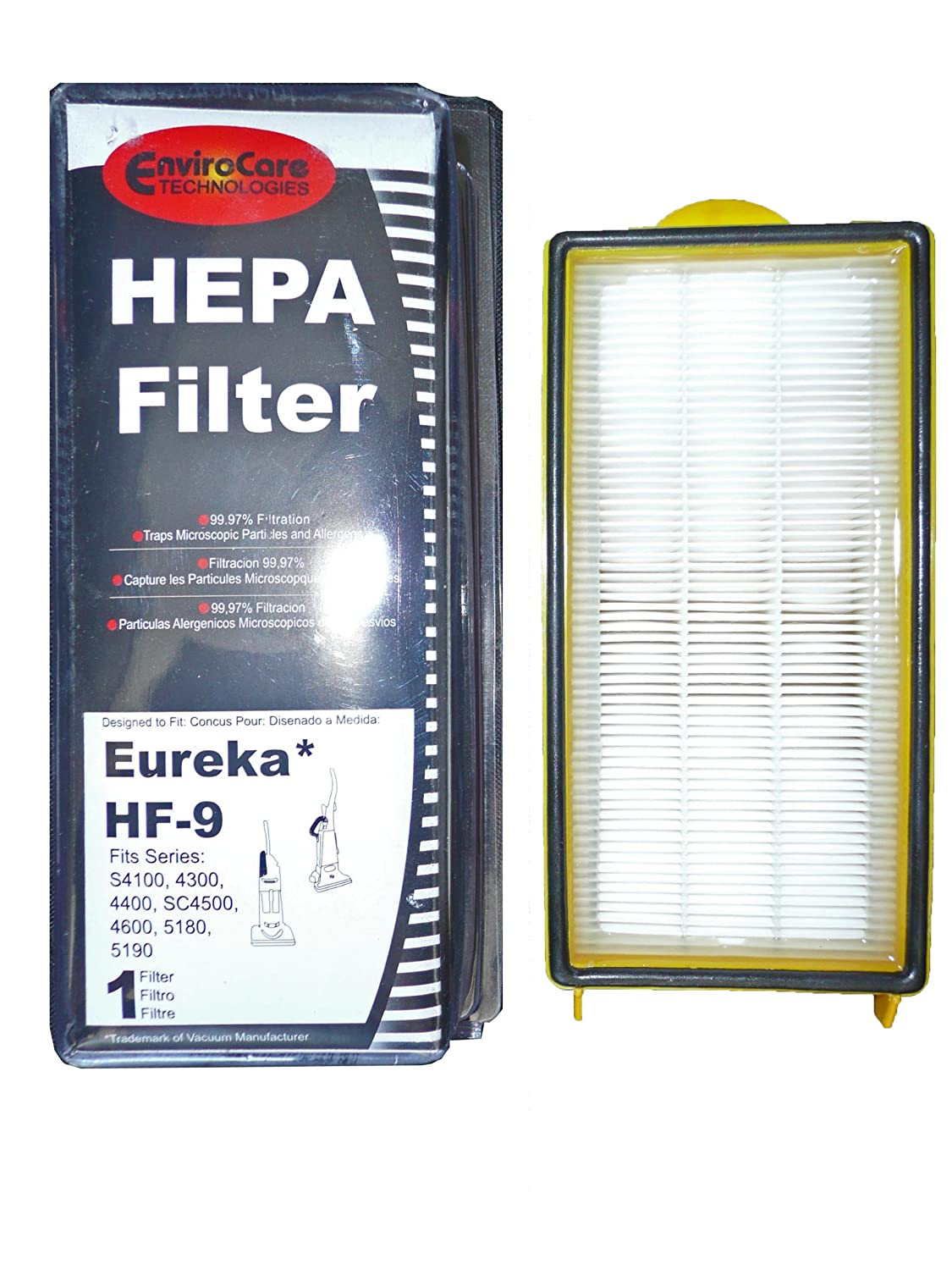 Eureka (1) 60285 Eureka HF9 Hepa Pleated Vacuum Filter, Bagless Cyclonic, Heavy Duty Upright, Self Propelled, Cleaner & Cyclonic at Sears.com