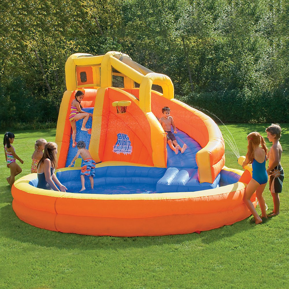 backyard inflatable water slide images