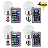 KOBRA Products Retro LED Color Changing Light Bulb With Remote Control (Pack Of 4) (Color: 4 Pack)
