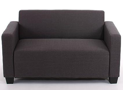 2er Sofa Couch Lyon Loungesofa Textil ~ anthrazit
