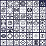 48 Pack Mandala Dot Painting Templates Floral Dotting Stencils for Painting on Wood, Fabric, Glass, Metal, Walls and More DIY Painting Art Projects, 3.54 x 3.54 Inch