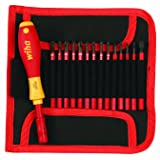 Wiha 28390 Insulated SlimLine Interchangeable Set Includes Handle with Pouch, 15-Piece (Color: multi)